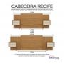 Cabeceira Recife - Albatroz camas de Casal Box padrão, Queen e King Size