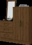 Cômoda Multiuso B700 2 Portas 3 Gavetas com Espelho Briz - Henn