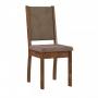 Conjunto 2 cadeiras Capri Rustico tecido veludo Castor - Sonetto