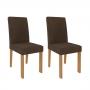 Conjunto 2 Cadeiras Maia Nature e Mascavo 100% MDF - Cimol