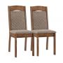 Conjunto de 2 Cadeiras Alice Rustico Tecido Veludo Caramelo - Sonetto