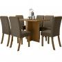 Conjunto de Jantar Mesa Nadi Retangular 140cm e 6 Cadeiras Vega -  HENN