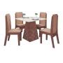 Conjunto de Mesa de Jantar com 4 cadeiras Liz - Astra