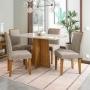 Conjunto de Mesa de Jantar Ana com 4 Cadeiras Amanda - New Ceval