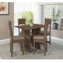 Conjunto de Mesa Talita com 4 Cadeiras Cor Noce Assento Bege - Indekes