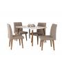 Conjunto Mesa Ágata De Jantar Com 4 Cadeiras Jade - RV Moveis