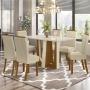 Conjunto Mesa de Jantar Alfa com 06 Cadeiras Vega - Henn