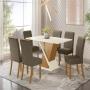 Conjunto Mesa de Jantar Solus com 06 Cadeiras Vega Bege - Henn