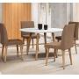 Conjunto Mesa De Jantar Turmalina Com 4 Cadeiras Jade Pés Palito - RV Moveis