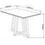 Conjunto Sala de Jantar mesa Lívia C/ Tampo Vidro Off/White + 4 Cadeiras Dália - Sonetto