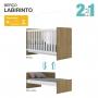 Conjunto Quarto Infantil Labirinto Com Roupeiro, Berço e Cômoda Henn