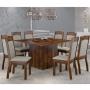 Conjunto Sala de Jantar Mesa Atena com 8 Cadeiras Alice - Sonetto