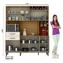 Kit cozinha compacta B121 Henn Briz 08 Portas 02 Gavetas