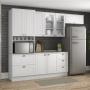 Cozinha Americana 4 Peças com Torre Quente Branco 100%MDF - Henn