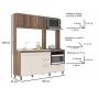 Cozinha Compacta 5 Portas 2 Gavetas Beatriz Nogueira/Off White - J Carvalho