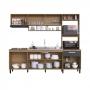 Cozinha Compacta Antonella 7 Portas 1 Gaveta cor Mel Grafite - Delmarco