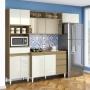 Cozinha Compacta Clara 4 Peças Sem Tampo Vidro Reflex -  Aramóveis