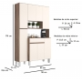 Cozinha Compacta Tais 8 Portas 1 Gaveta - J Carvalho