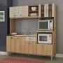 Cozinha Compacta Tati para Fornos 8 Portas Carvalho/Blanche sem Tampo - Fellicci