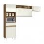 Cozinha compacta Thais Sem Balcão de Pia 6 Portas 1 Gaveta - Aramoveis
