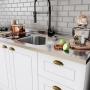 Cozinha Completa 8 Peças Americana Branco 100%MDF - Henn