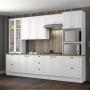 Cozinha Completa Americana 6 Peças Branco 100%MDF - Henn