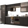 Cozinha Modulada Atena 100%MDF 13 Peças Grafite - Arte cas