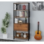 Estante Match para Livros e Objetos com 01 Porta Basculante e 4 Prateleiras- Artely