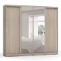 Guarda-Roupa Casal com Espelho 4 Portas de Correr D558 - Kappesberg