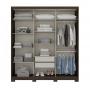 Guarda roupa De Casal Silver 3 Portas Deslizantes - Henn