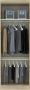 Guarda Roupa Modulado Master Areia 2 Portas -  Luciane