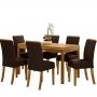 Mesa de jantar 06 cadeiras Chan Tampo em MDF