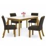 Mesa de jantar 06 Cadeiras Ghala com Tampo de Vidro Henn