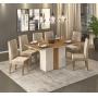 Mesa de jantar Clara com tampo em madeira e 6 cadeiras lia - Dj Moveis