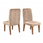 Conjunto Mesa de jantar Clara com tampo em madeira e 6 cadeiras lia - Dj Moveis