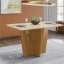 Mesa de Jantar Vértice 1200x800 com 04 Cadeiras Vega Henn Nature Off White com Bege