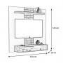 Painel Home Suspenso Para Tv 47 Polegadas Smart - DJ Móveis