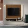 Painel Londres para TV até 48 Polegadas com Nicho Freijo/Off White - Belaflex