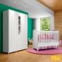 Quarto De Bebê Completo Com Berço Mini-cama, Cômoda E Guarda-roupa Henn Pão De Mel - Henn