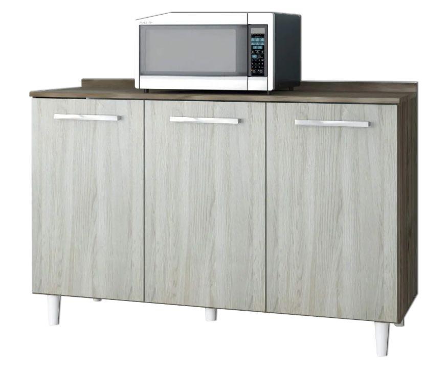 Balcão de Cozinha 3 Portas com Tampo 1,20m Napoli Darmovel