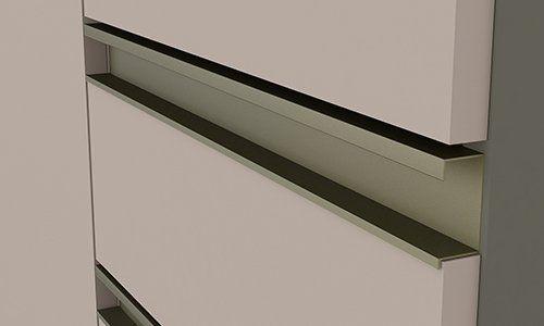 Balcão Modulado 3 Gavetas 60cm com Tampo Connect Henn