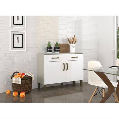 Balcão Multiuso de Cozinha B117 2 Portas 2 Gavetas Briz - Henn