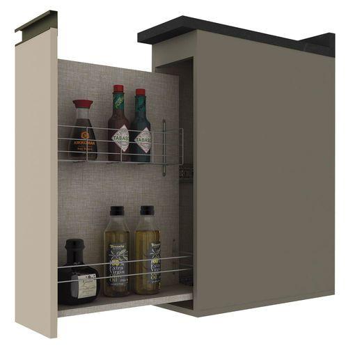 Balcão para Condimentos Modulado 1 Porta com Tampo Connect Henn