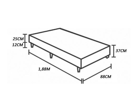 BASE BOX SOLTEIRO 37CMX88CMX188CM