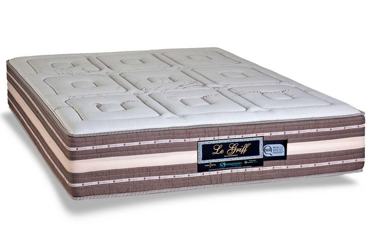 Cama Box Casal 1,38m Le Griff Molas Ensacadas - Sankonfort