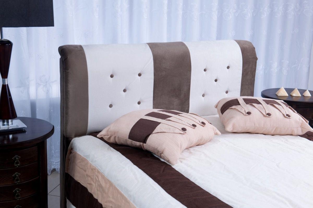 Cabeceira Estofada Princesa em Tecido Suede com Botões  – Conforto Total