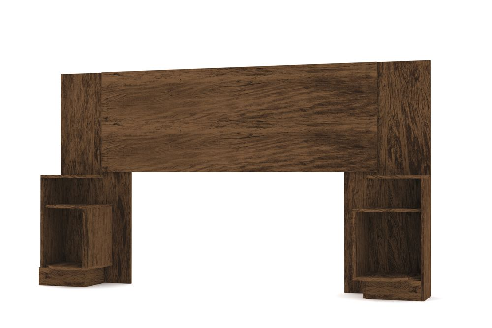 Cabeceira Extensível Box Casal ou Solteiro com 2 Criados Elegance - Vila Rica