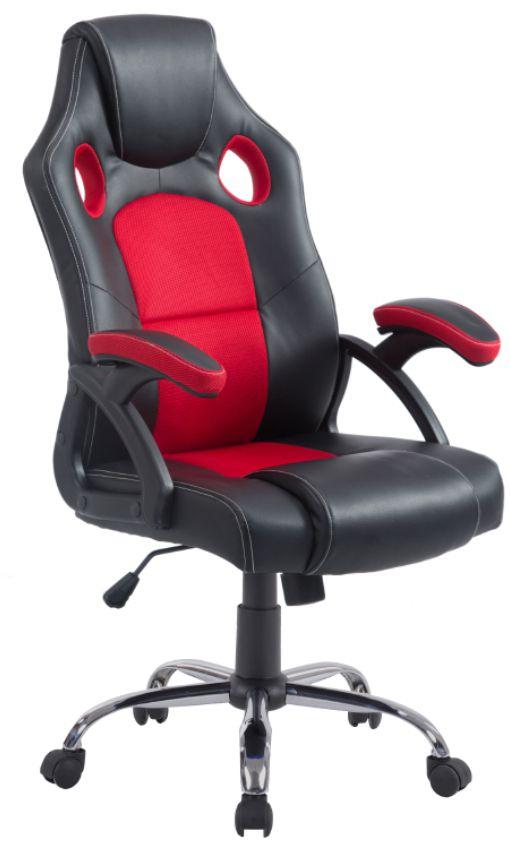 Cadeira Gamer Preta/Vermelha Pinguim