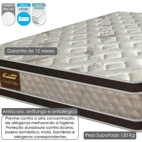 Cama Box Casal Good Like 1,38m Molas Ensacadas -  Gazin