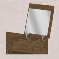 Cômoda Adele 5 Gavetas e 1 Porta com Colméia e Espelho - Fênix